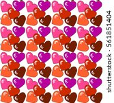 red  pink  lilac  vinous hearts.... | Shutterstock .eps vector #561851404