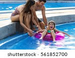 Family Swimming Pool Playing...
