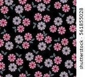 floral seamless pattern vector...   Shutterstock .eps vector #561855028