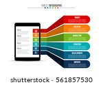 infographic template with... | Shutterstock .eps vector #561857530