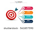 infographic template with... | Shutterstock .eps vector #561857590
