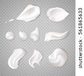 white cream elements | Shutterstock .eps vector #561865633
