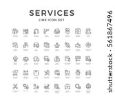 set line icons of service... | Shutterstock .eps vector #561867496