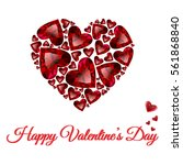 happy valentines day vector... | Shutterstock .eps vector #561868840