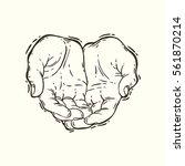 vector hand drawn illustration... | Shutterstock .eps vector #561870214