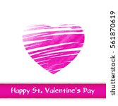 valentine's day greeting card ... | Shutterstock .eps vector #561870619
