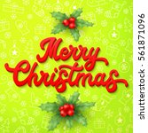 xmas 3d lettering inscription... | Shutterstock .eps vector #561871096
