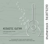 abstract music acoustic guitar... | Shutterstock .eps vector #561873250