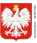 national arms of poland | Shutterstock .eps vector #56187334