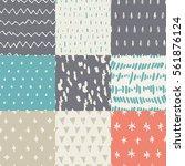 handdrawn seamless pattern... | Shutterstock .eps vector #561876124