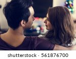couple dating happiness... | Shutterstock . vector #561876700
