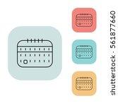 calendar icon  outline thin...