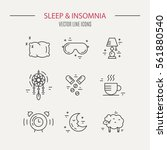 sleep problems and insomnia... | Shutterstock .eps vector #561880540