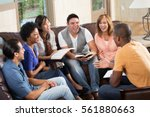 diverse small group of people... | Shutterstock . vector #561880663