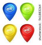 vector set of tags for a map... | Shutterstock .eps vector #561883264