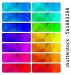 vector set of abstract... | Shutterstock .eps vector #561883288