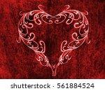 red heart lovely grunge... | Shutterstock . vector #561884524