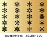 snowflake vector icon... | Shutterstock .eps vector #561884920