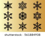 snowflake vector icon... | Shutterstock .eps vector #561884938