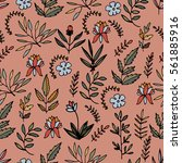 colorful floral seamless... | Shutterstock .eps vector #561885916
