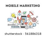 mobile marketing concept.... | Shutterstock .eps vector #561886318