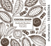 card design template with cocoa ... | Shutterstock .eps vector #561886366