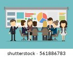 business conference with people ... | Shutterstock .eps vector #561886783