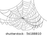 illustration with spider web...   Shutterstock .eps vector #56188810