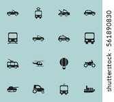 set of 16 transport icons.... | Shutterstock . vector #561890830