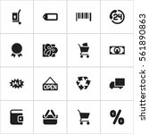 set of 16 shopping icons....