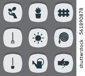 set of 9 farm icons. includes...