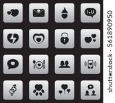 set of 16 love icons. includes...