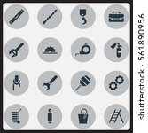 set of 16 tools icons. includes ...