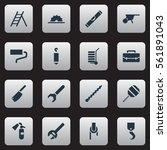 set of 16 apparatus icons.... | Shutterstock . vector #561891043