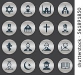 set of 16 religion icons....