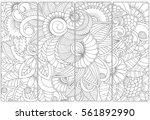 vector set of decorative... | Shutterstock .eps vector #561892990