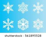 snowflake vector icon... | Shutterstock .eps vector #561895528