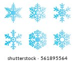snowflake vector icon... | Shutterstock .eps vector #561895564