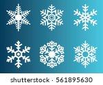 snowflake vector icon... | Shutterstock .eps vector #561895630