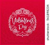 happy valentine's day trendy...   Shutterstock .eps vector #561898234