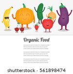 cartoon fruits and vegetables.... | Shutterstock .eps vector #561898474