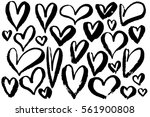 hearts grunge hand drawing... | Shutterstock .eps vector #561900808