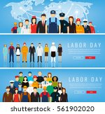 people of different occupations.... | Shutterstock .eps vector #561902020
