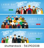 people of different occupations.... | Shutterstock .eps vector #561902038
