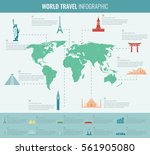 travel and tourism. infographic ... | Shutterstock .eps vector #561905080
