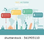 travel and tourism. infographic ...   Shutterstock .eps vector #561905110