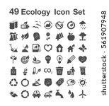 49 ecology icon set | Shutterstock .eps vector #561907948