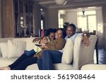 african descent family house... | Shutterstock . vector #561908464
