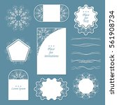 set of lacy napkins. it can be... | Shutterstock .eps vector #561908734