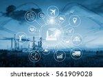 industry 4.0 concept  smart...   Shutterstock . vector #561909028